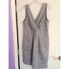 Business Formal Grey Dress Grey business formal dress. NWOT LOFT Dresses