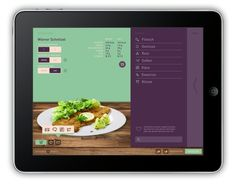 web design site food restaurant purple green complementary colors