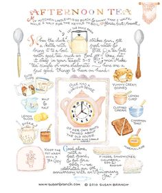 A very cute 'how to guide' to put on an afternoon tea