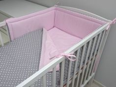 Grey Pink cotton Bedding Set , Nursery Bedding Set, Girl Bedding Set, Pillowcases for children's bed, Baby Bedding Set Teepee Tent, Pink, Kid Beds, Cribs, Toddler Bed, Blanket, Pillows, Handmade