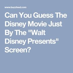 Can You Guess The Disney Movie Just By The \