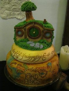 "All right, while on the subject, ""Lord of the Rings"" inspires cake makers like you wouldn't believe. #themedcakes"