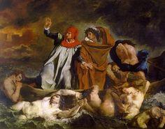 Ладья Данте - Эжен Делакруа. 1822.