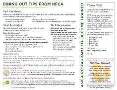 Gluten-Free Dining Out Card from NFCA