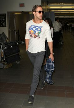 Ryan Gosling Arriving At LAX Airport