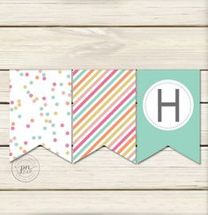 Sprinkle Banner // Polka Dot Party Banner // by papernoteandco