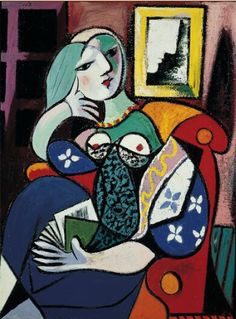 Pablo Picasso (1881-1973), 1932, Woman with a Book, Oil on canvas.