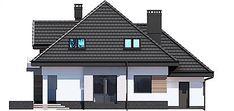 Elewacja tylna projektu Opałek III N Home Fashion, House Plans, Floor Plans, House Design, Cabin, House Styles, Home Decor, Home Plans, Opal