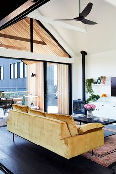 Wooden terrace overlooking a forest landscape and contemporary decor in a house signed Alida & Miller - Women Style Tips