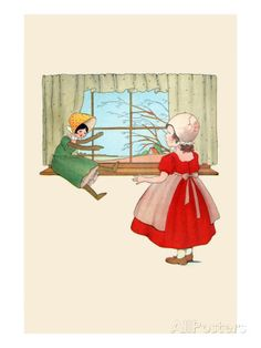 Doll By The Window Premium Poster