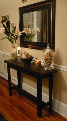 Diy Console Table For The Entryway I Feel Need To Beef Up My Entry Way