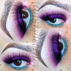 Purple & blue @mrsdeveney