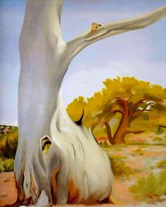Dead Cottonwood Tree, Georgia O'Keeffe 1943 Alfred Stieglitz, Georgia O'keeffe, Savannah Georgia, Santa Fe, Wisconsin, Pablo Picasso, New Mexico, Georgia O Keeffe Paintings, Munier