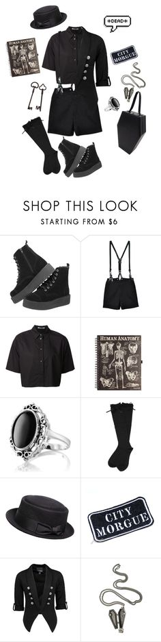 """""""The Undertaker's Son"""" by goreishx ❤ liked on Polyvore featuring T.U.K., Rachel, CourtShop, T By Alexander Wang, Giani, Daytrip, Hot Topic, men's fashion and menswear"""