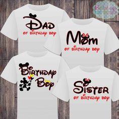 Matching Disney Family Birthday Boy Tshirts - Mickey Minnie Mouse Birthday Girl - Disney Inspired - Matching Birthday Shirts - Minnie Mouse by BellabugsBaby on Etsy