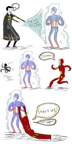Capsicle 2.0.....hahaha looks like Tony does some serious squats in the last one haha