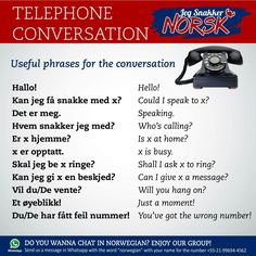 Telephone conversation in Norsk Learning Languages Tips, Foreign Languages, Spanish Activities, Learning Spanish, Learning Italian, Norway Culture, Norway Language, Norwegian Words, Norway Flag