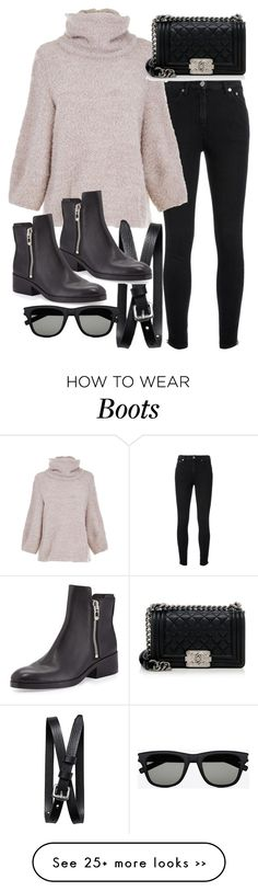 """""""Untitled #18843"""" by florencia95 on Polyvore featuring Yves Saint Laurent, TIBI, Banana Republic, Chanel, 3.1 Phillip Lim and popofluxury"""