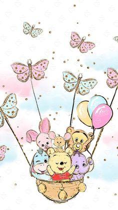 New wall paper cute disney winnie the pooh Ideas Disney Winnie The Pooh, Winnie The Pooh Drawing, Winnie The Pooh Pictures, Winne The Pooh, Winnie The Pooh Friends, Baby Disney, Disney Art, Disney Phone Wallpaper, Cartoon Wallpaper Iphone