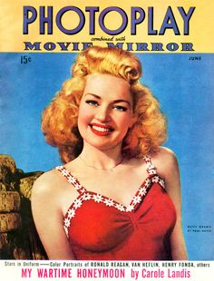Photoplay/Movie Mirror magazine with Betty Grable on the cover, June 1943. Cover photo by Paul Messe.