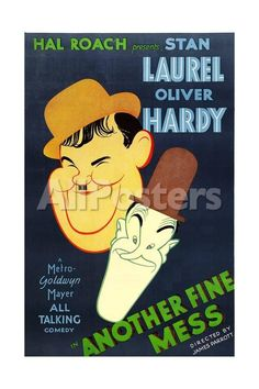 ANOTHER FINE MESS, Oliver Hardy, Stan Laurel [Laurel and Hardy], 1930 People Art Print - 41 x 61 cm