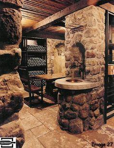 Stone Wine Cellar | 5000 bottle Basement Wine Cellar Millbrook, N.Y. (cellar B) This stone ...