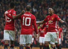 United eased into the fourth round of the FA Cup with a 4-0 victory over the Royals