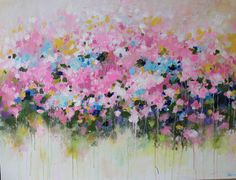 Ideas For Painting Abstract Landscape Cherry Blossoms Abstract Flower Art, Abstract Landscape, Painting Abstract, Puffy Paint, Contemporary Abstract Art, Modern Art, Your Paintings, Original Paintings, Different Kinds Of Art