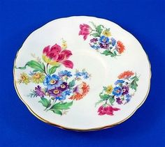 Bright-Floral-Bouquet-Hammersley-Tea-Cup-and-Saucer-Set