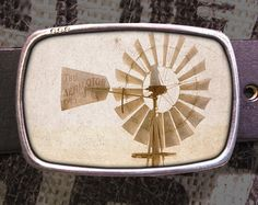windmill belt buckle by reganflegan on Etsy
