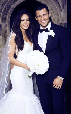 Michelle Keegan looking beautiful on her wedding day to Mark Wright. Her whole bridal look is just stunning!
