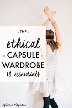 Back to Basics: An Ethical Capsule Wardrobe  #ethicalfashion #ethical #capsulewardrobe