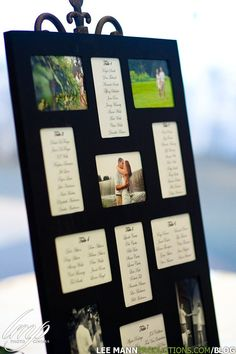 Easy to find seating chart and cheaper than place cards! - Great idea - doing this!