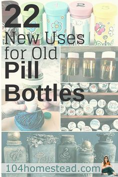 Upcycle Pill Bottles With These 22 Ideas is part of Pill bottle crafts - I came up with 22 uses for upcycling old pill bottles How many can you come up with Medicine Bottle Crafts, Pill Bottle Crafts, Old Medicine Bottles, Reuse Pill Bottles, Recycled Bottles, Reuse Plastic Containers, Plastic Container Crafts, Recycled Plastic Bottles, Plastic Bag Crafts