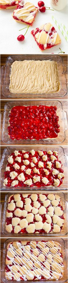 Cherry Pie Bars {AKA Cherry Kuchen Bars} - a summer must have recipe! Everyone loved these!