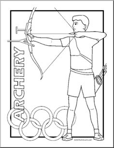 Coloring Page: Summer Olympics - Archery -