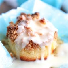Lemon lovers rejoice! These keto lemon sour cream muffins are delicious, with a crunchy streusel topping & sweet tart lemon glaze that will have you hooked!