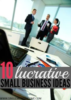 Have you caught the entrepreneurial bug? Here are ten lucrative (offline) small business ideas WAHM Ideas #WAHM #workathom