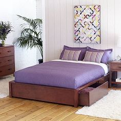 Color scheme: lavander, cream, brown and tan