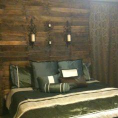 Mine & Cory's Bedroom - Pallet Wall