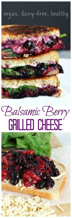 Balsamic Berry Vegan Grilled Cheese - This savory yet sweet sammie is perfect for summer vibes. Melty vegan cheese, berries, and spinach make this…