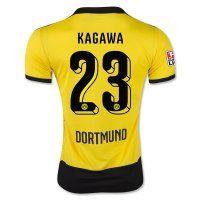 Borussia Dortmund 2015-2016 Season KAGAWA #23 Home Soccer Jersey