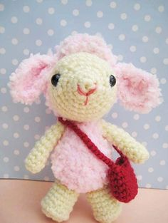 This is Pinky baby sheep created by me.She is approximately 4.5 inch tall (without counting ear)