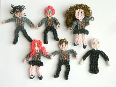 Harry, Ron, Hermione, Ginny, Neville, Voldemort