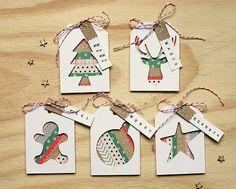 idea for christmas tag                                                                                                                                                                                 Más