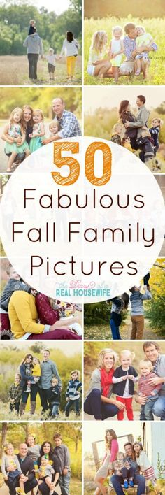 Fabulous fall family picture ideas. I love getting our family pictures done in the fall and these are some great ideas.