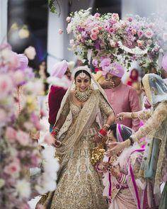 Looking for Sabyasachi lehenga on Amrita puri with floral motifs? Browse of latest bridal photos, lehenga & jewelry designs, decor ideas, etc. on WedMeGood Gallery. Amrita Puri, Sabyasachi Lehenga Bridal, Anarkali, Silk Lehenga, Desi Wedding, Wedding Wear, Wedding Lehanga, Wedding Girl, Wedding Shit