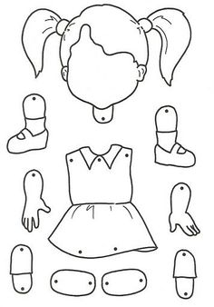 body parts for children crafts Body Preschool, Preschool Lessons, Preschool Worksheets, Art For Kids, Crafts For Kids, Children Crafts, Body Craft, Paper Puppets, Kids Education