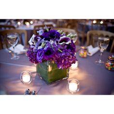 Beautiful simple purple centerpiece