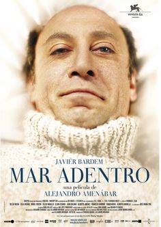 Mar adentro / The Sea Inside, film by the Spanish director Alejandro Amenábar. It is based on the real-life story of Ramón Sampedro, played by Javier Bardem. Films Étrangers, Films Cinema, Javier Bardem, Good Movies To Watch, Great Movies, Top Movies, See Movie, Movie Tv, Movie List